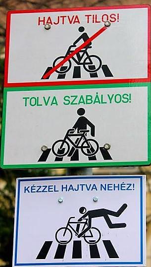 Táblák kerékpárosoknak