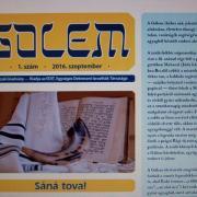 A Gólem újság címlapja
