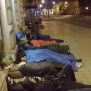 Menekültek a Kossuth utcán