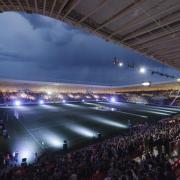 A stadion az átadás ünnepén