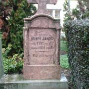 Irinyi János eredeti sírköve