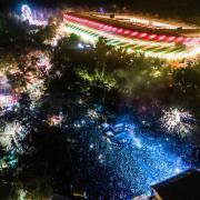 A fesztivál felülről