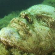 Lenin-szobor víz alatt