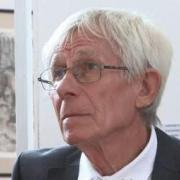 Szilágyi Imre, a kiállítás egyik alkotója