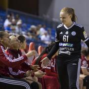 A meccs ifjú hőse: Szabó Dóra  Fotó: DVSC Kézilabda