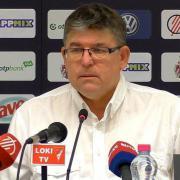 Herczeg András a sajtótájékoztatón  Fotó: dvsc.hu