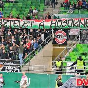 A debreceni szurkolók is megemlékeztek   Fotó: DVSC