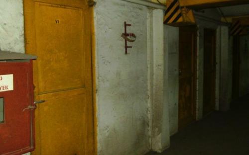 A gépterem bejárata