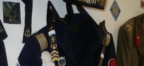 Orosz tengeralattjáró katonájának egyenruhája